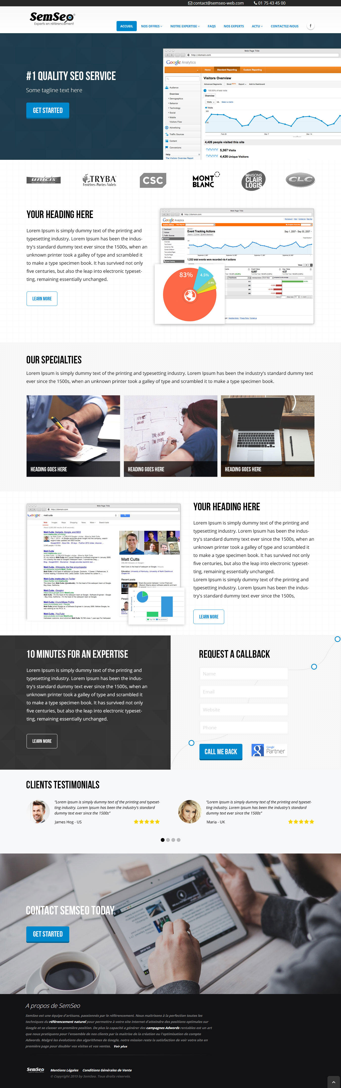 Professional Landing Page Design by BarwalDesigns - 101425